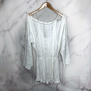 Free People FP Beach White Short Dress Cover Up